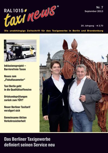 RAL 1015 taxi news Heft 7-2013