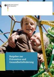 Ratgeber zur Prävention und Gesundheitsförderung