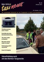 RAL 1015 taxi news Heft 8-2013