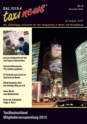 RAL 1015 taxi news Heft 9-2013