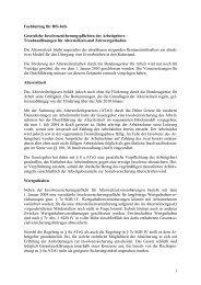 BfS Info Fachbeitrag Insolvenzsicherung - Dr. Münch Treuhand GmbH
