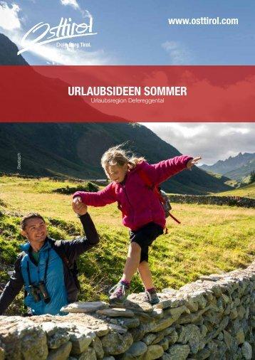 Urlaubsideen Sommer 2017