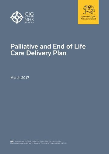Palliative and End of Life Care Delivery Plan