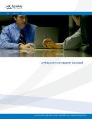 Configuration Management Explained - Numara Software