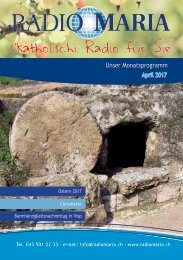 Radio Maria Schweiz - April 2017