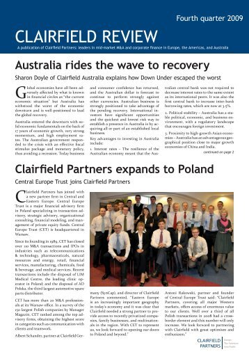 Australia rides the wave - Syncap