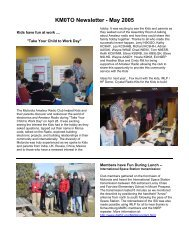 KM0TO Newsletter - May 2005