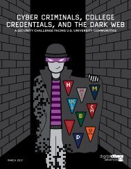 CYBER CRIMINALS COLLEGE CREDENTIALS AND THE DARK WEB