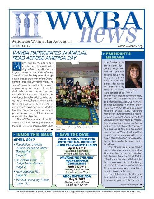 WWBA April 2017 Newsletter