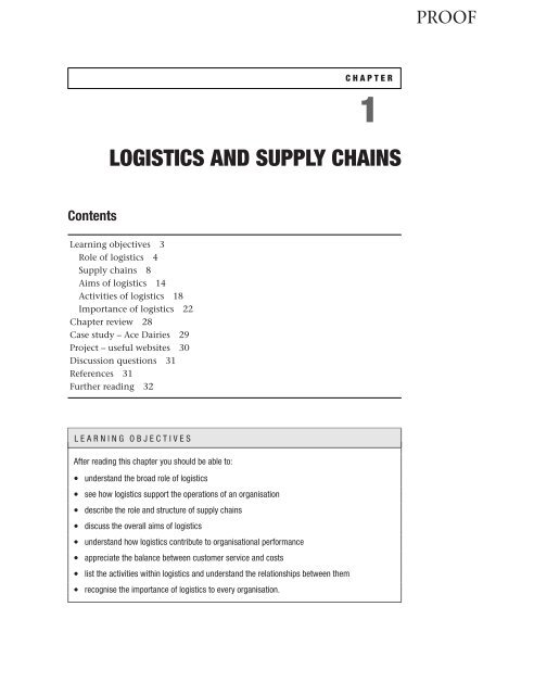 1 LOGISTICS AND SUPPLY CHAINS - Palgrave
