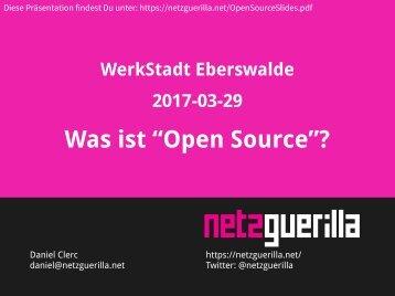 """Was ist """"Open Source""""?"""