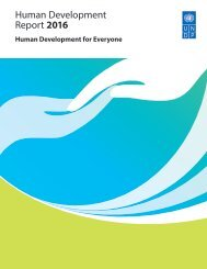 Human Development Report 2016