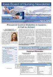 Iowa Board of Nursing Newsletter – May 2017