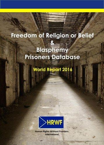 Freedom of Religion or Belief & Blasphemy Prisoners Database