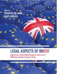 Legal Aspects of Brexit