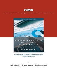Developing Key Risk Indicators to Strengthen - Coso
