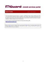Quick Guide - mGuard remote services portal - Innominate