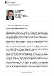 Dr. Christophe Kühl Französische Rechtsanwälte als Treuhänder ...