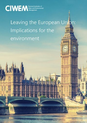 Leaving the European Union Implications for the environment