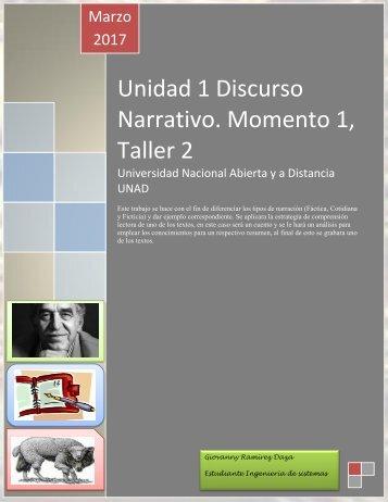 Unidad 1 Discurso Narrativo