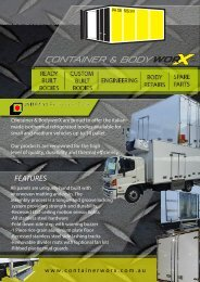 Container & BodyworX Front Page Flyer