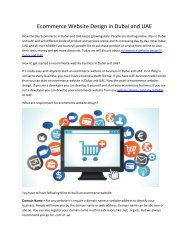 Ecommerce Website Design in Dubai and UAE
