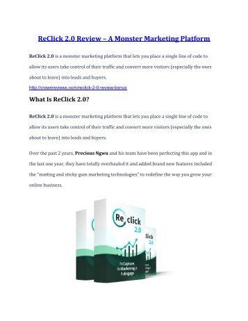ReClick 2.0 review and (GET) +100 items bonus pack