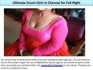 Ultimate Escort Girls in Chennai for Full Night