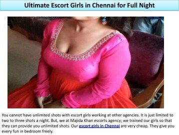 Ultimate Escort Girls in Chennai for Full Night