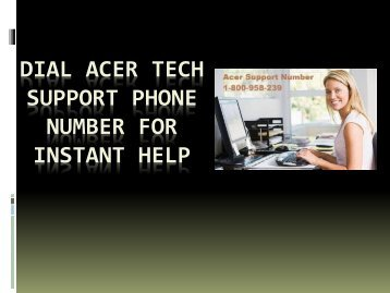 Dial Acer Tech Support Phone Number for Instant
