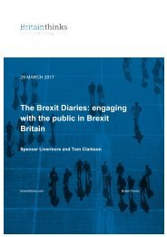 The Brexit Diaries engaging with the public in Brexit Britain