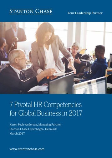 7 Pivotal HR Competencies for Global Business in 2017