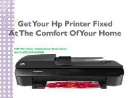 Get Your Hp Printer Fixed At The Comfort Of Your Home