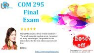 Latest COM 295 Final Exam 2017 Answers For University of Phoenix