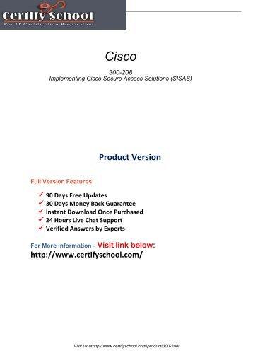 300-208 PDF Exam Material