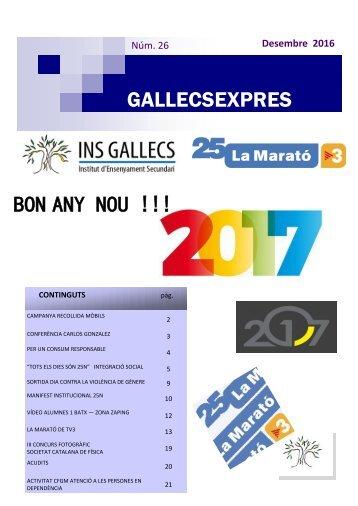 GALLECSEXPRES BON ANY NOU !!!