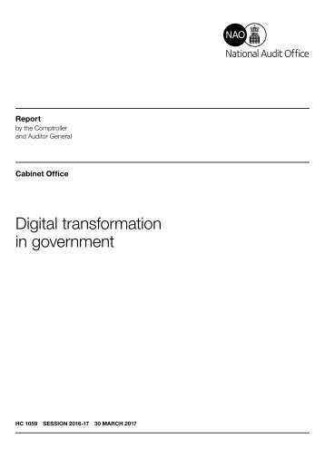 Digital transformation in government