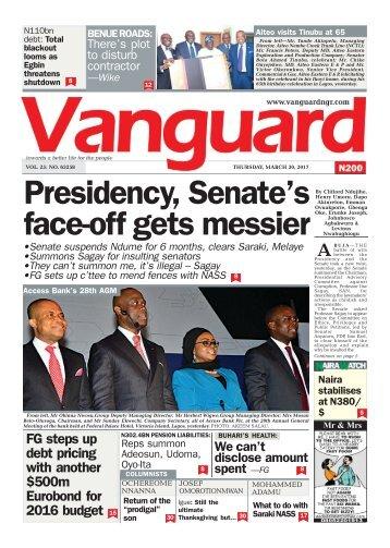 30032017 - Presidency, Senate's face-off gets messier