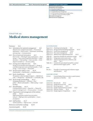 Medical stores management - Management Sciences for Health