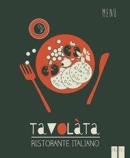 Tavolàta menu, Silja Symphony & Silja Serenade (eng/rus)