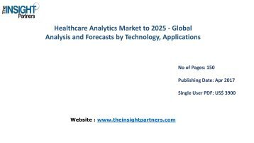 Healthcare Analytics Industry Research Reports & Industry Analysis 2016-2025 |The Insight Partners
