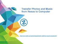 Transfer Photos and Music from Nexus to Computer