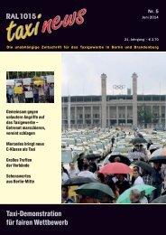 RAL 1015 taxi news Heft 5-2014