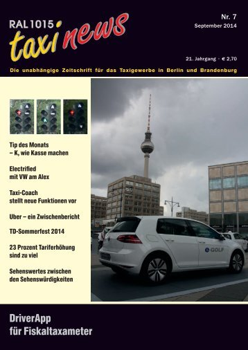 RAL 1015 taxi news Heft 7-2014