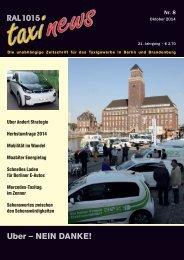 RAL 1015 taxi news Heft 8-2014