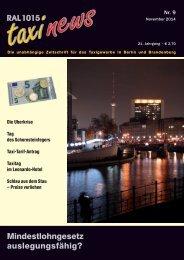 RAL 1015 taxi news Heft 9-2014