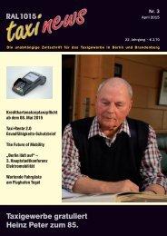 RAL 1015 taxi news Heft 3-2015