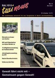 RAL 1015 taxi news Heft 4-2015