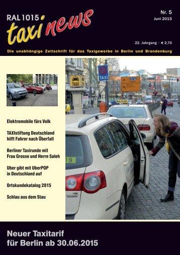 RAL 1015 taxi news Heft 5-2015