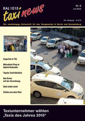 RAL 1015 taxi news Heft 6-2015